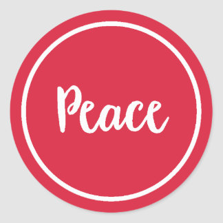 Peace | Holiday Classic Round Sticker