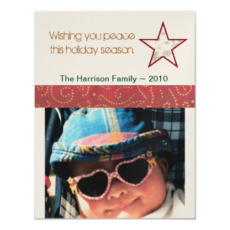 Peace Holiday Photo Card 11 Cm X 14 Cm Invitation Card