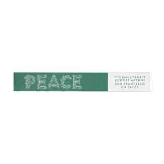 Peace Holiday Wraparound Label Wraparound Return Address Label