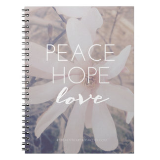 Peace, Hope, Love Journal