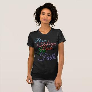 Peace, Hope, Love, Joy, Faith Black T-Shirt