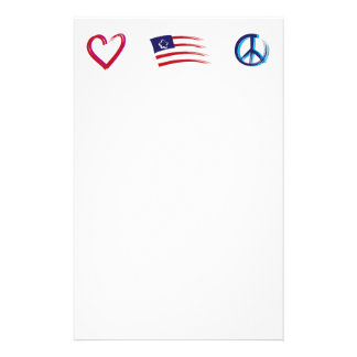 Peace Hope Love Stationery