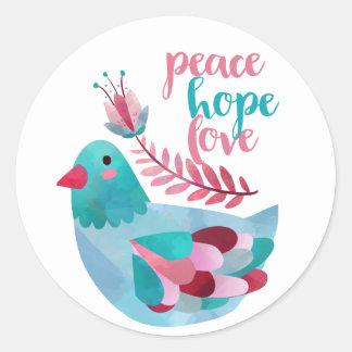 Peace, Hope, Love sticker