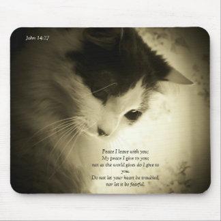 Peace I Give John 14:27 Mouse Pad
