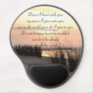 Peace I leave with you, Bible Verse Ocean Sunset Gel Mouse Pad