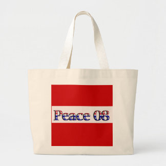 Peace in 2008 jumbo tote bag