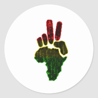 Peace in Africa Classic Round Sticker