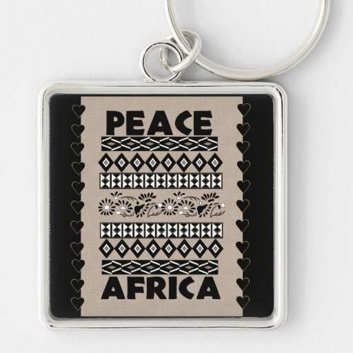 Peace In Africa Keychains