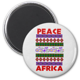 Peace In Africa 6 Cm Round Magnet