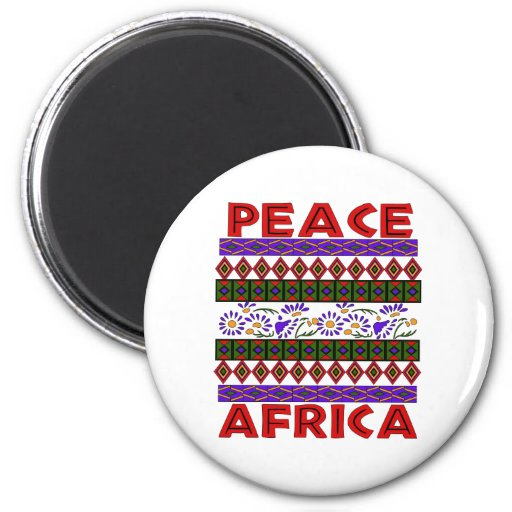 Peace In Africa Fridge Magnets