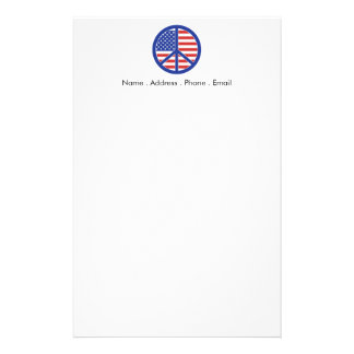 Peace in America Customized Stationery