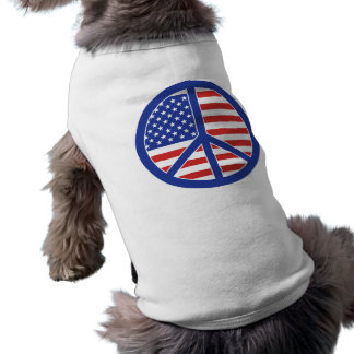 Peace in America Sleeveless Dog Shirt