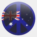 Peace in Australia Round Sticker