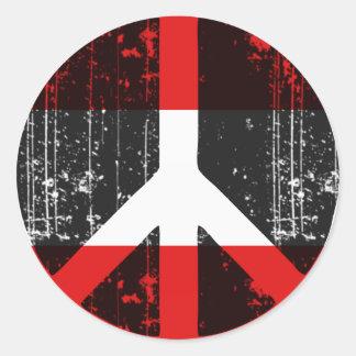 Peace In Austria Classic Round Sticker