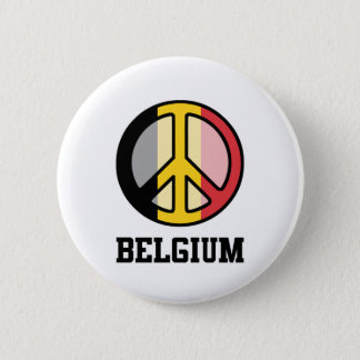 Peace In Belgium 6 Cm Round Badge