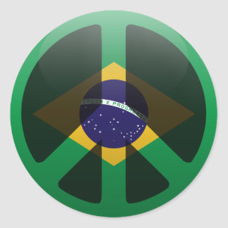 Peace in Brazil Classic Round Sticker