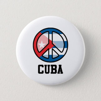 Peace In Cuba 6 Cm Round Badge