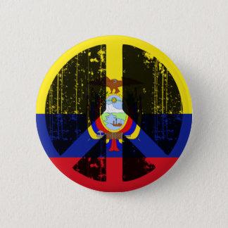 Peace In Ecuador 6 Cm Round Badge