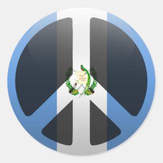 Peace in Guatemala Classic Round Sticker