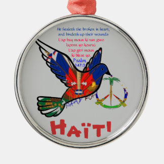 PEACE IN HAITI METAL ORNAMENT