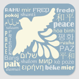 PEACE in many languages stickers