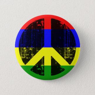 Peace In Mauritius 6 Cm Round Badge