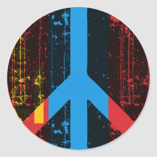 Peace In Mongolia Classic Round Sticker