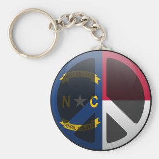 Peace in North Carolina Key Ring
