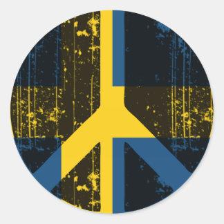 Peace In Sweden Classic Round Sticker