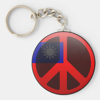 Peace in Taiwan Basic Round Button Key Ring