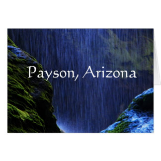 Peace in the falls. Payson, Arizona Card