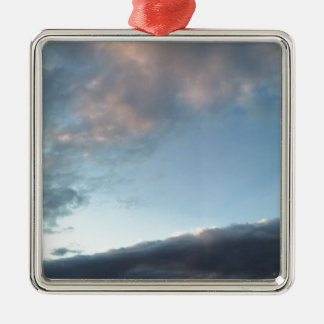 Peace in the midst of a calm Silver-Colored square decoration