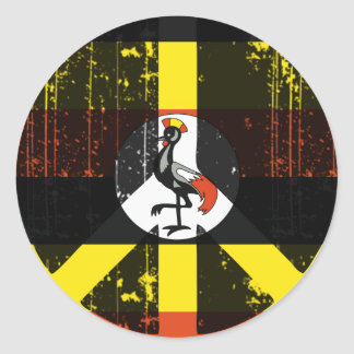 Peace In Uganda Classic Round Sticker
