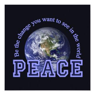Peace invitation, customize 13 cm x 13 cm square invitation card
