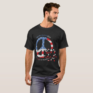 Peace is a Puzzle flag style tee