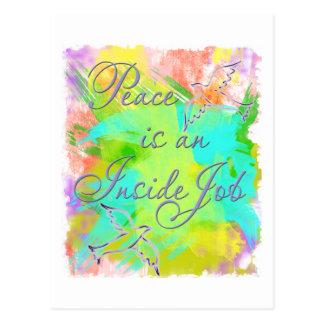 Peace is an Inside Job Postcard
