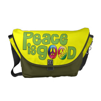 Peace is good - Rickshaw Messenger Bag