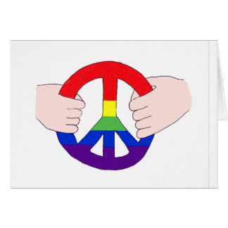 Peace is in our hands card