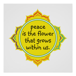 Peace is the Flower Print