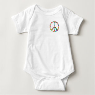 Peace - It's Up To All Of Us Baby Bodysuit