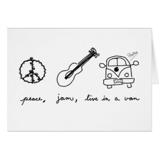 Peace, Jam, Live in a Van Card