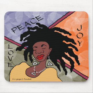 Peace, Joy and Love Mouse Pad