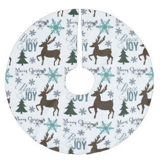 Peace Joy Christmas Tree Skirt