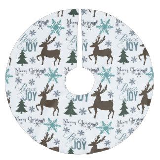 Peace Joy Christmas Brushed Polyester Tree Skirt