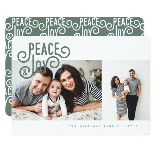 PEACE + JOY(FOREST GREEN) CARD