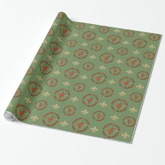 Peace Joy Gumbo Cajun Christmas Wrapping Paper