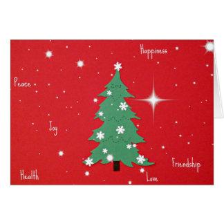 Peace, Joy, Happiness, Love...Christmas greetings Greeting Card