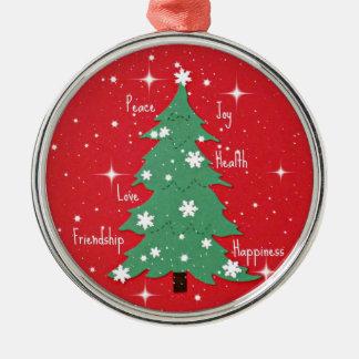 Peace, Joy, Happiness, Love... Christmas Ornaments