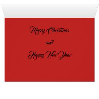 Peace Joy Love Christmas and New Year card