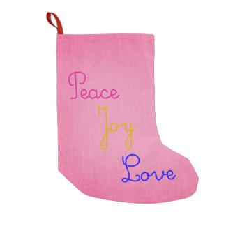 Peace Joy Love Small Christmas Stocking